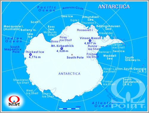 南極大陸地図 Map of Antarctica