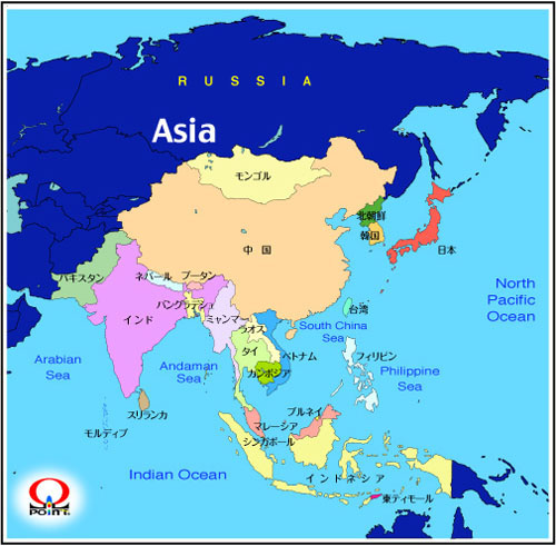 �A�W�A�n�}��{��@Map of Asia