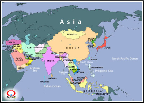 �A�W�A�n�}�p��@Map of Asia