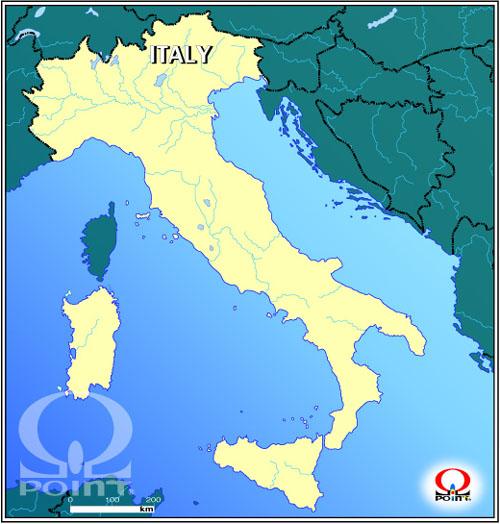 無料 アフリカ 白地図 無料 : イタリア地図と旅行情報:Map of ...