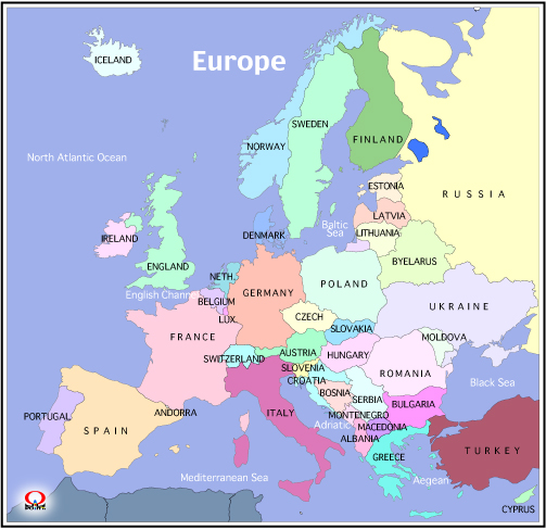 Travel Map Europe