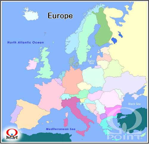 白地図 ヨーロッパ 白地図 フリー : ヨーロッパ白地図2(無料)