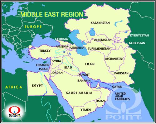 中近東地図(中東地図) Middle ...