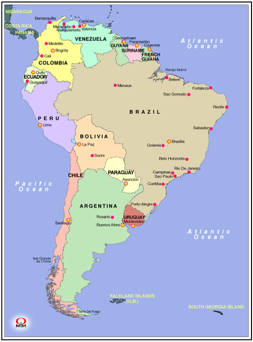 ��A�����J�n�}�@Map of South America