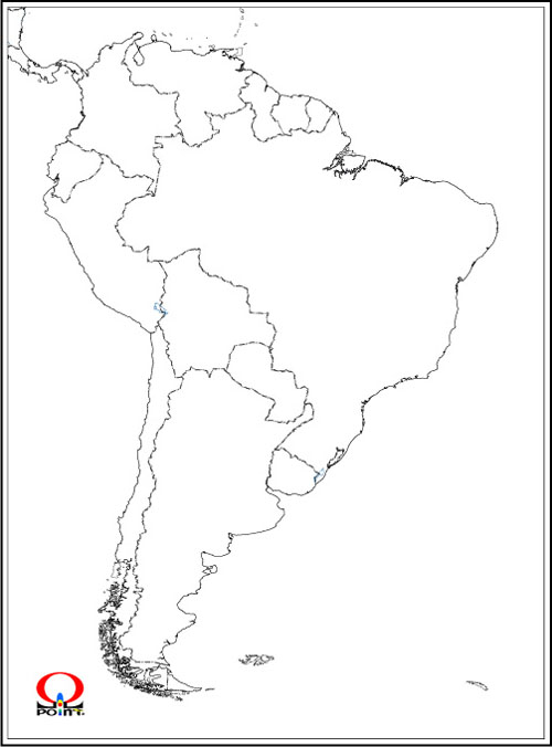 すべての講義 アフリカ地図 国名入り : South America Outline